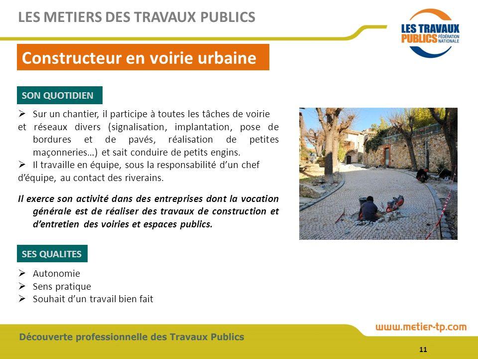 Constructeur en voirie urbaine