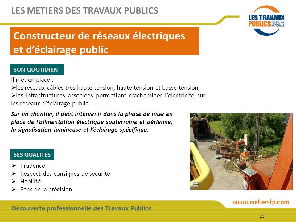 Constructeur de réseaux électriques et d'éclairage public