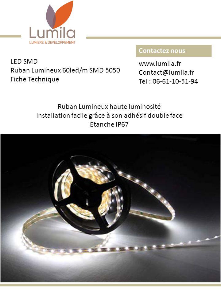 Ruban Lumineux 60led/m SMD 5050 Fiche Technique