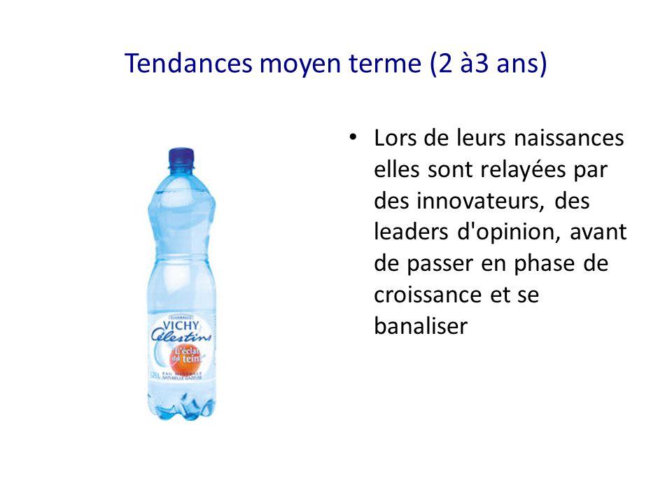 Tendances moyen terme (2 à3 ans)