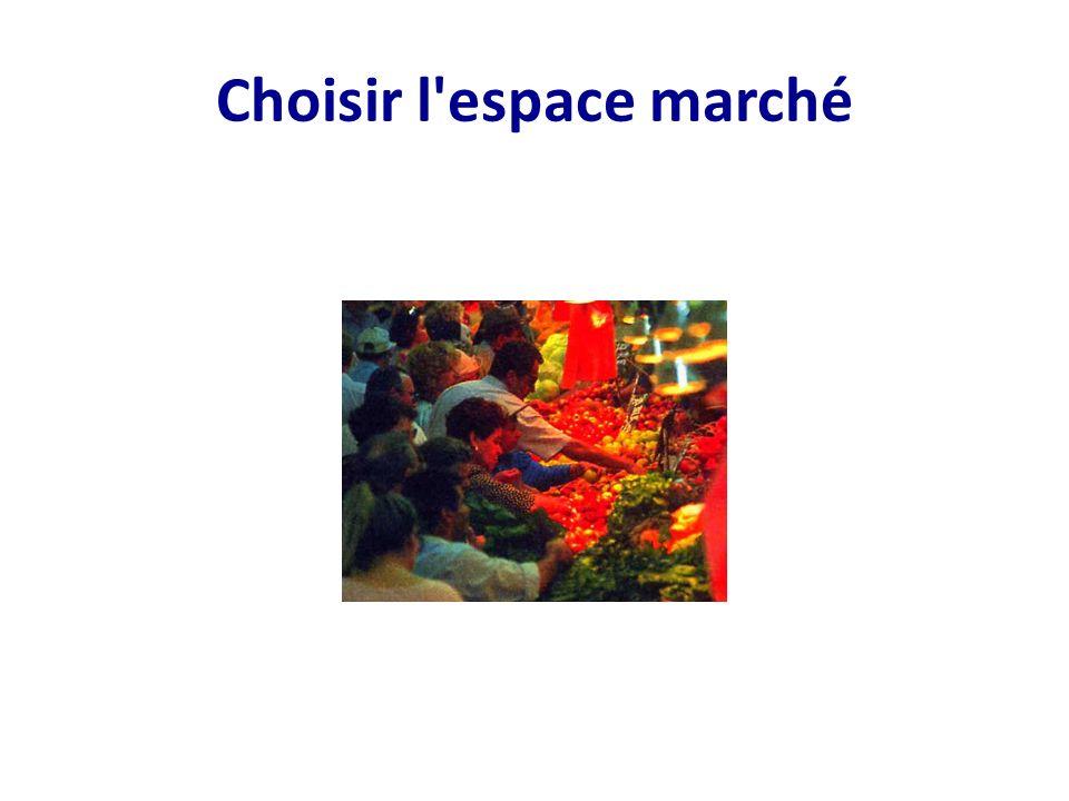Choisir l espace marché