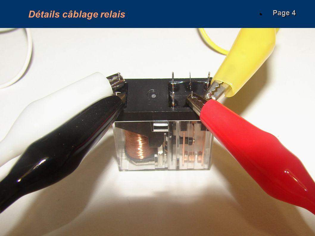 Détails câblage relais