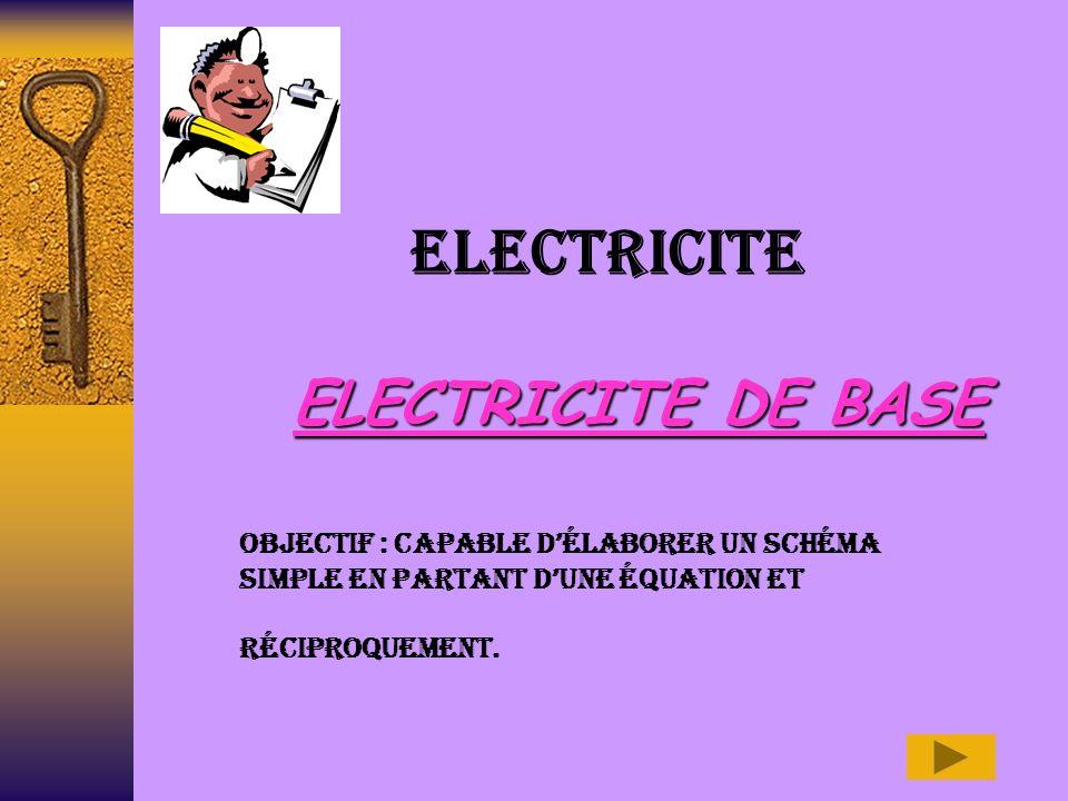 ELECTRICITE ELECTRICITE DE BASE