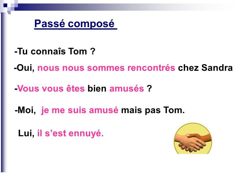 Passé composé -Tu connaîs Tom