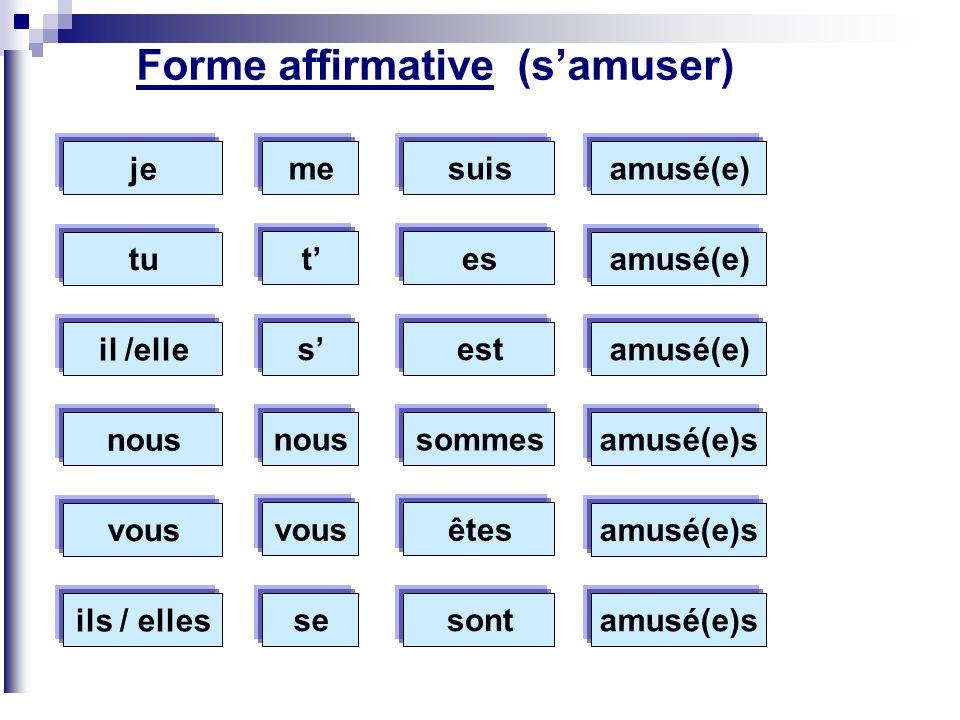 Forme affirmative (s'amuser)