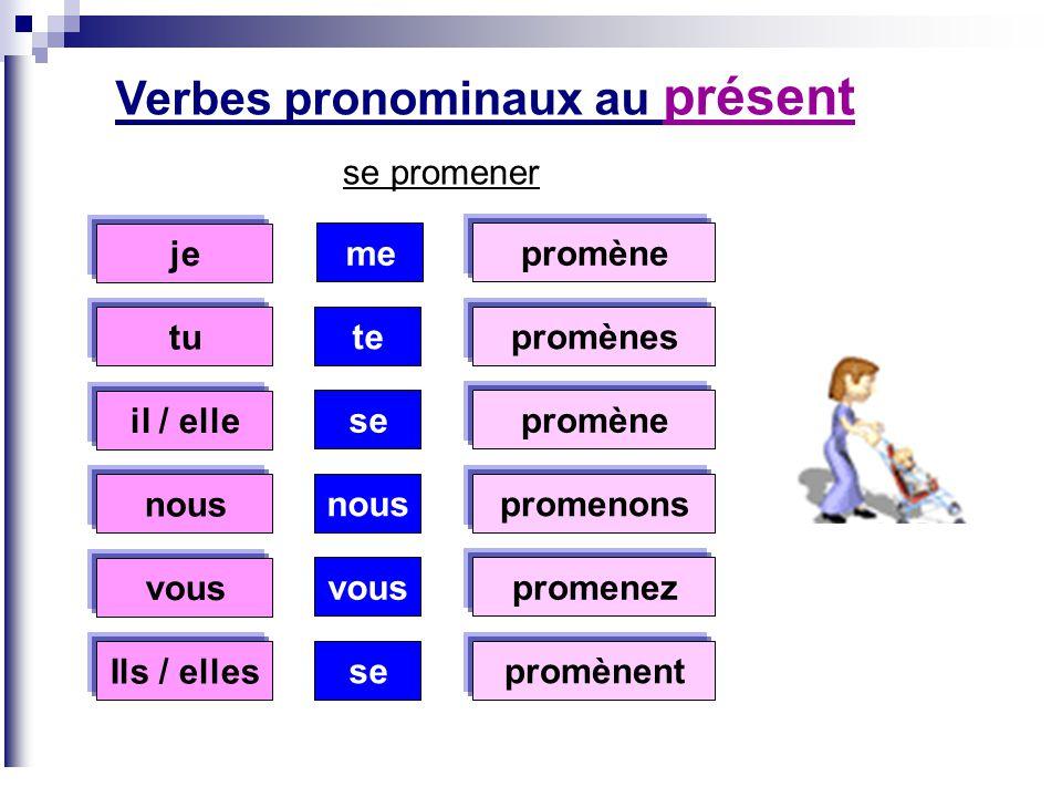 Verbes pronominaux au présent