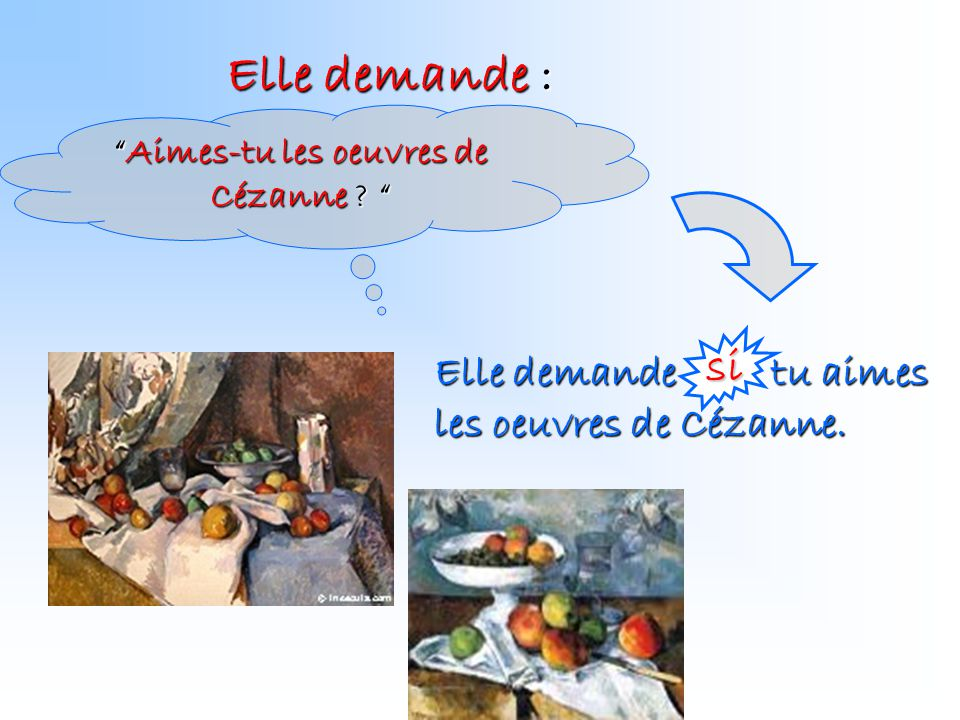 Aimes-tu les oeuvres de Cézanne