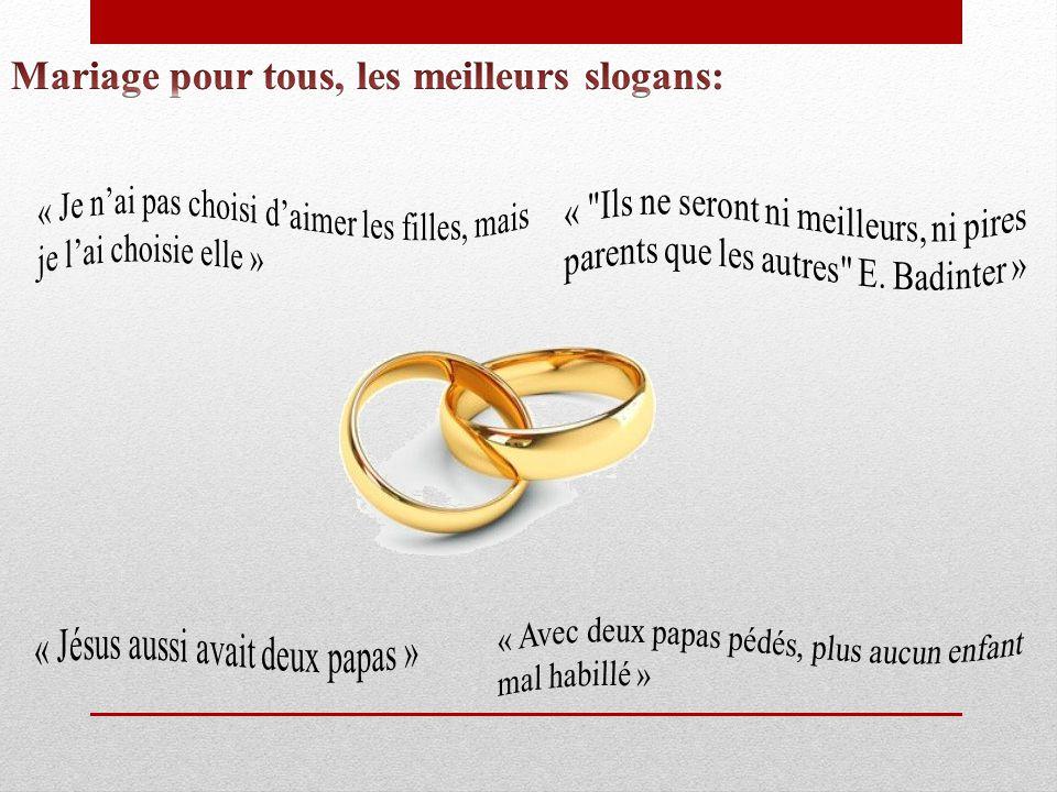 Mariage pour tous, les meilleurs slogans:
