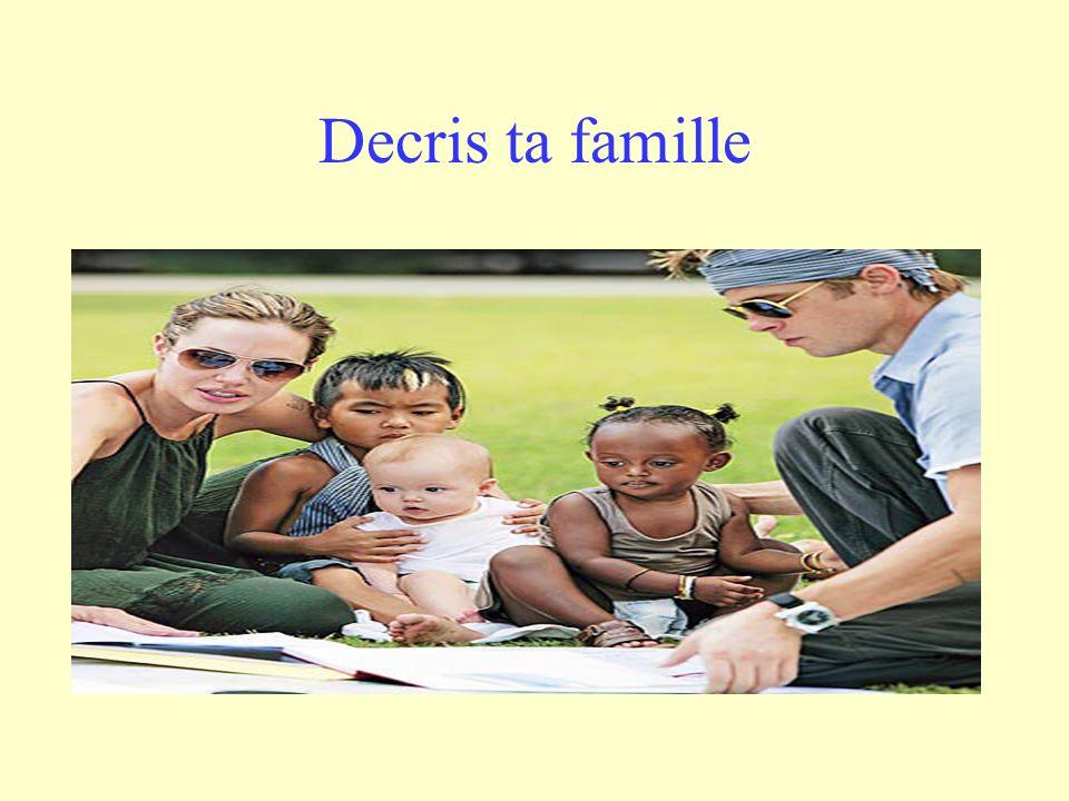 Decris ta famille