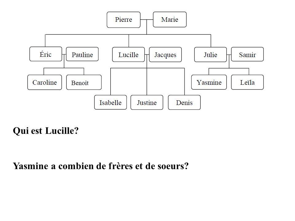 Qui est Lucille Yasmine a combien de frères et de soeurs