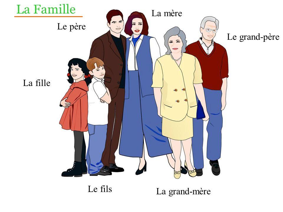 La Famille La mère Le père Le grand-père La fille Le fils
