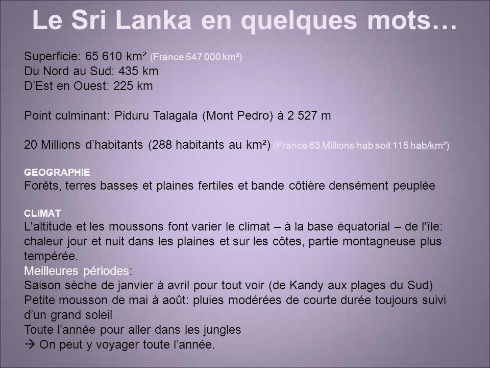 Le Sri Lanka en quelques mots…