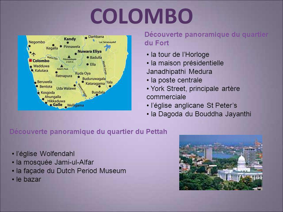 COLOMBO Découverte panoramique du quartier du Fort
