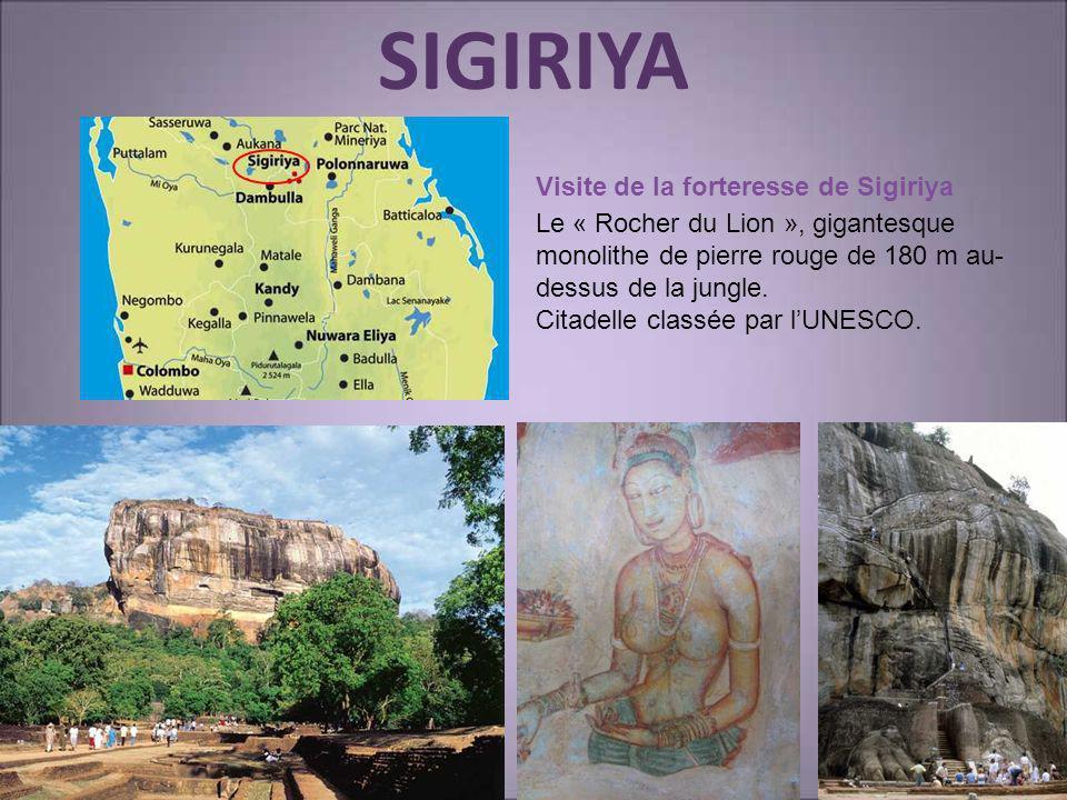 SIGIRIYA Visite de la forteresse de Sigiriya