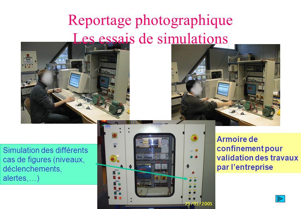 Reportage photographique Les essais de simulations