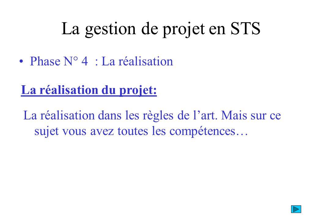 La gestion de projet en STS