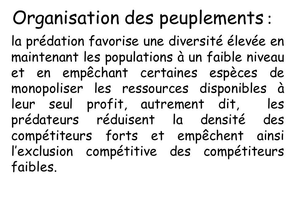 Organisation des peuplements :