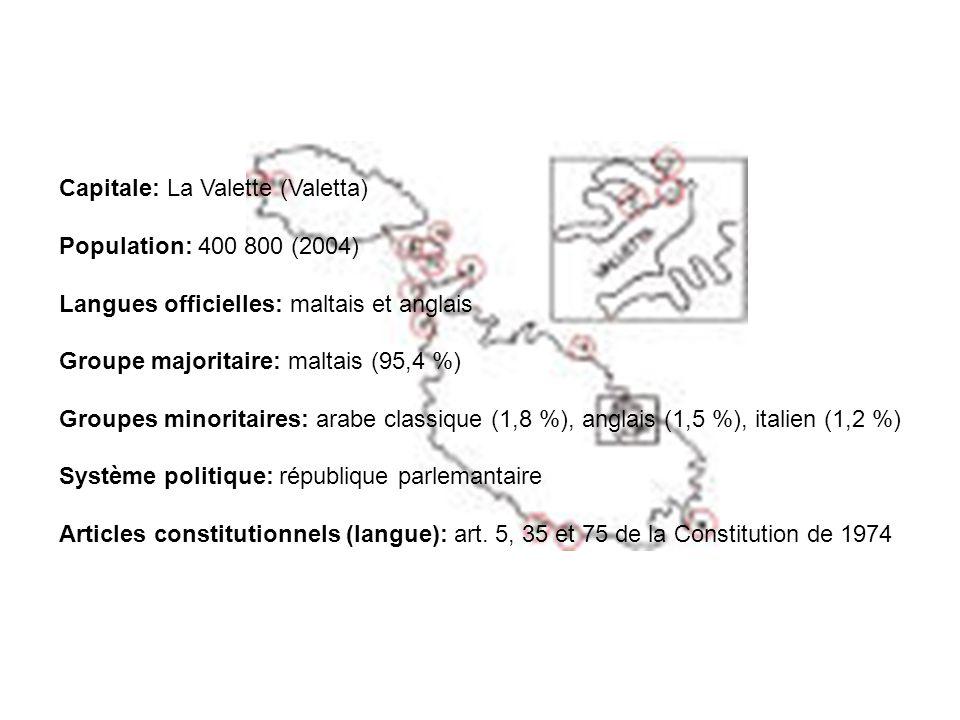 Capitale: La Valette (Valetta)