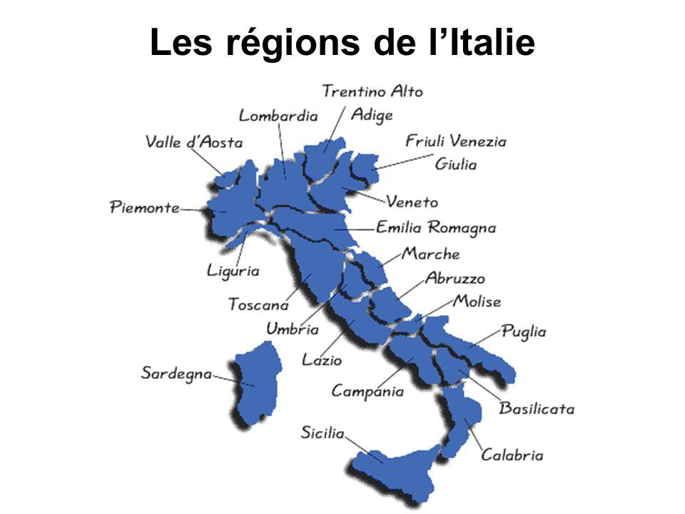 Les régions de l'Italie