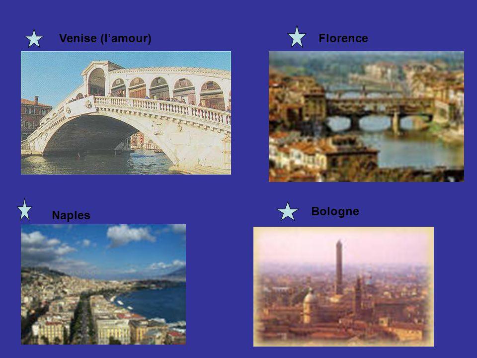 Venise (l'amour) Florence Bologne Naples