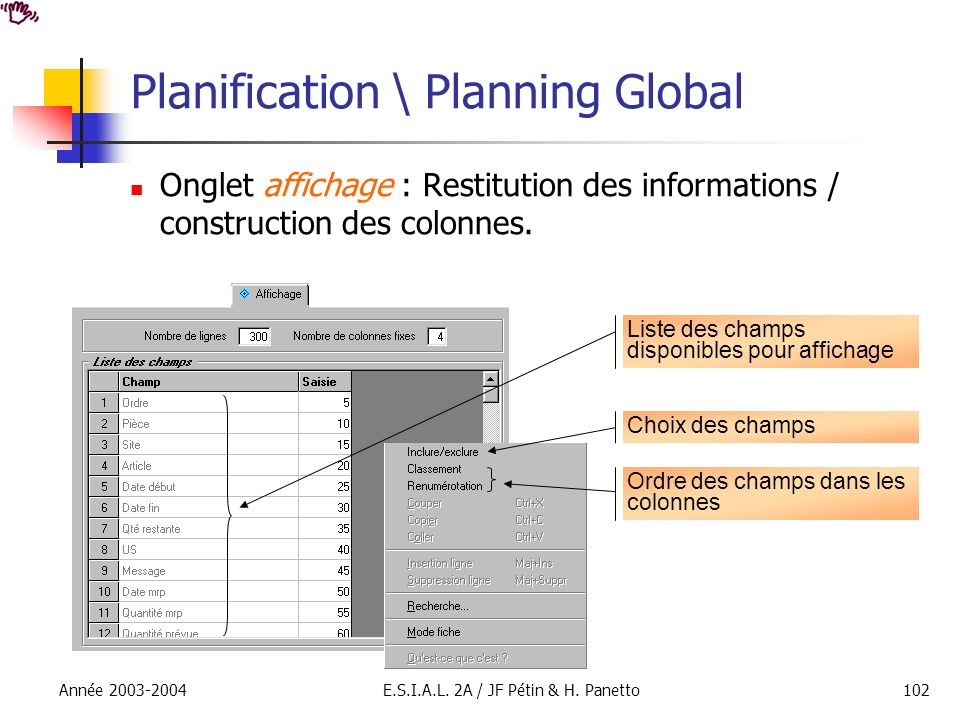 Planification \ Planning Global