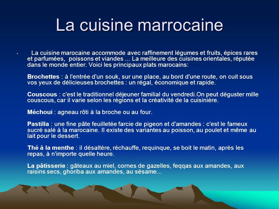 La cuisine marrocaine
