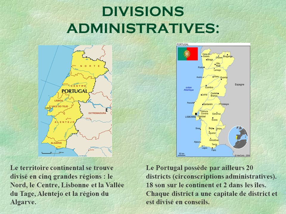 DIVISIONS ADMINISTRATIVES: