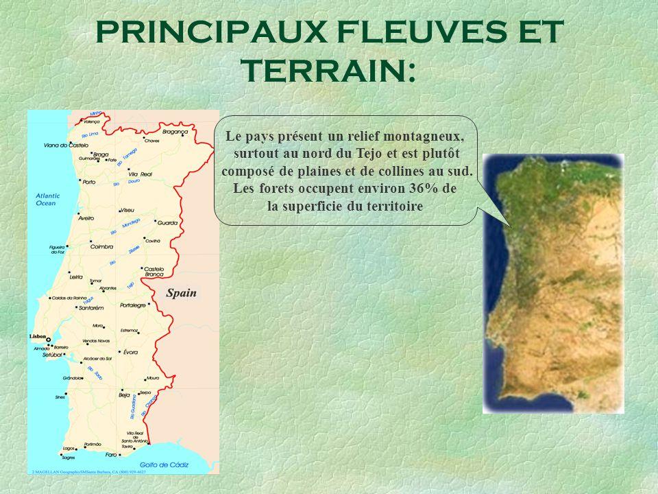 PRINCIPAUX FLEUVES ET TERRAIN: