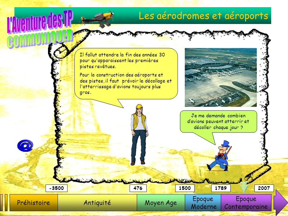Les aérodromes et aéroports