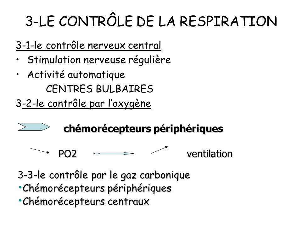 3-LE CONTRÔLE DE LA RESPIRATION