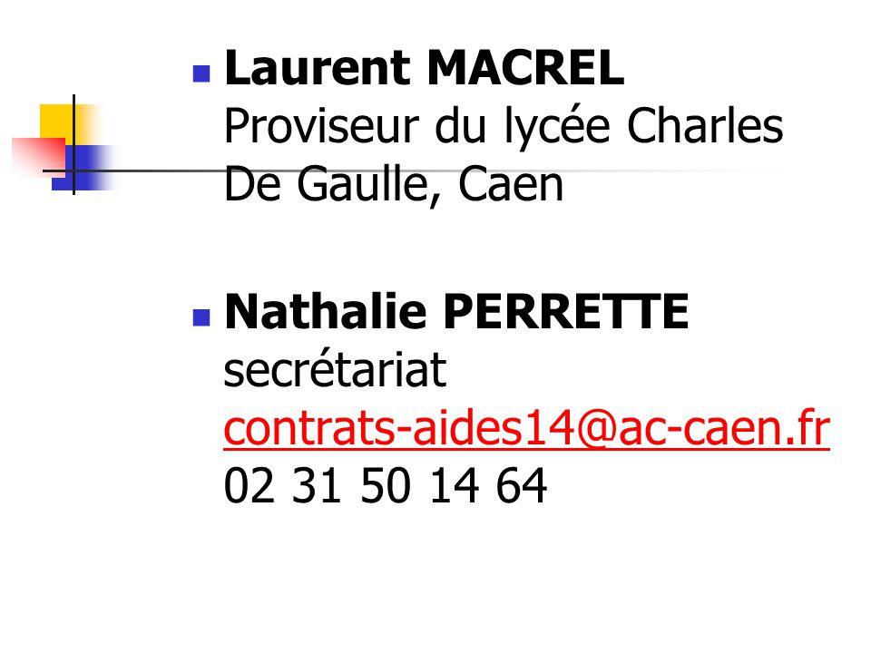 Laurent MACREL Proviseur du lycée Charles De Gaulle, Caen