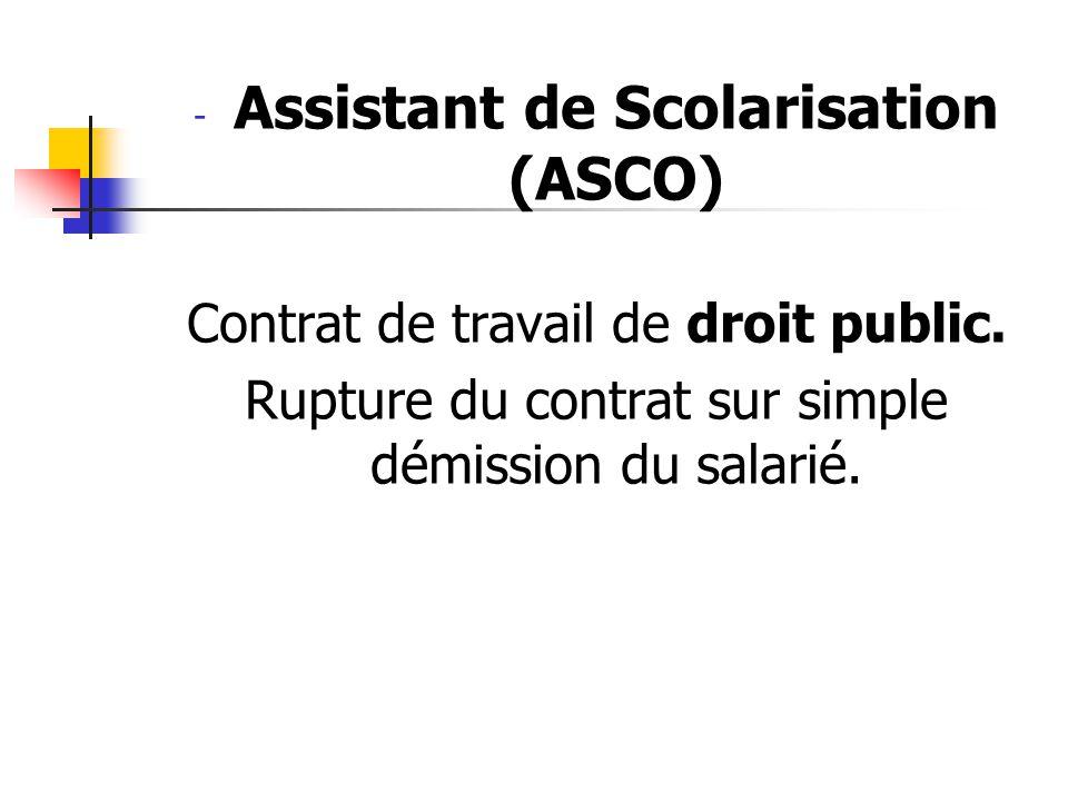 Assistant de Scolarisation (ASCO)