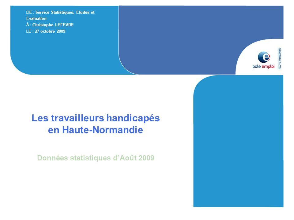 Les travailleurs handicapés en Haute-Normandie
