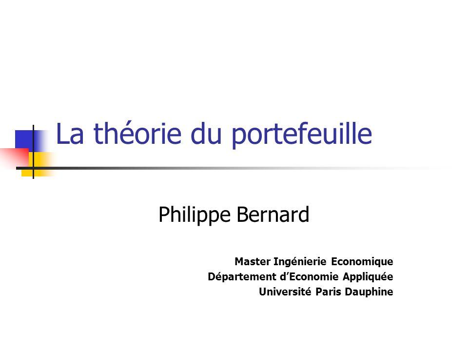 La théorie du portefeuille