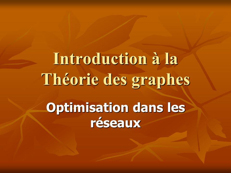 Introduction à la Théorie des graphes