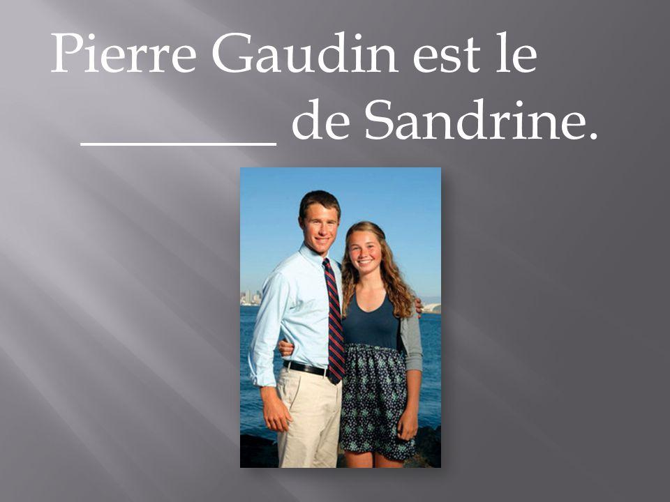 Pierre Gaudin est le _______ de Sandrine.