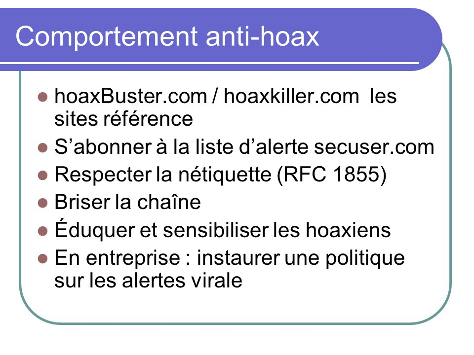 Comportement anti-hoax