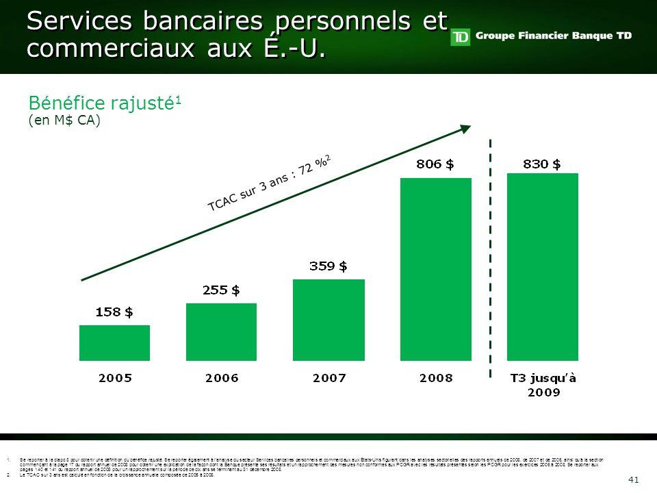 Services bancaires personnels et commerciaux aux É.-U.