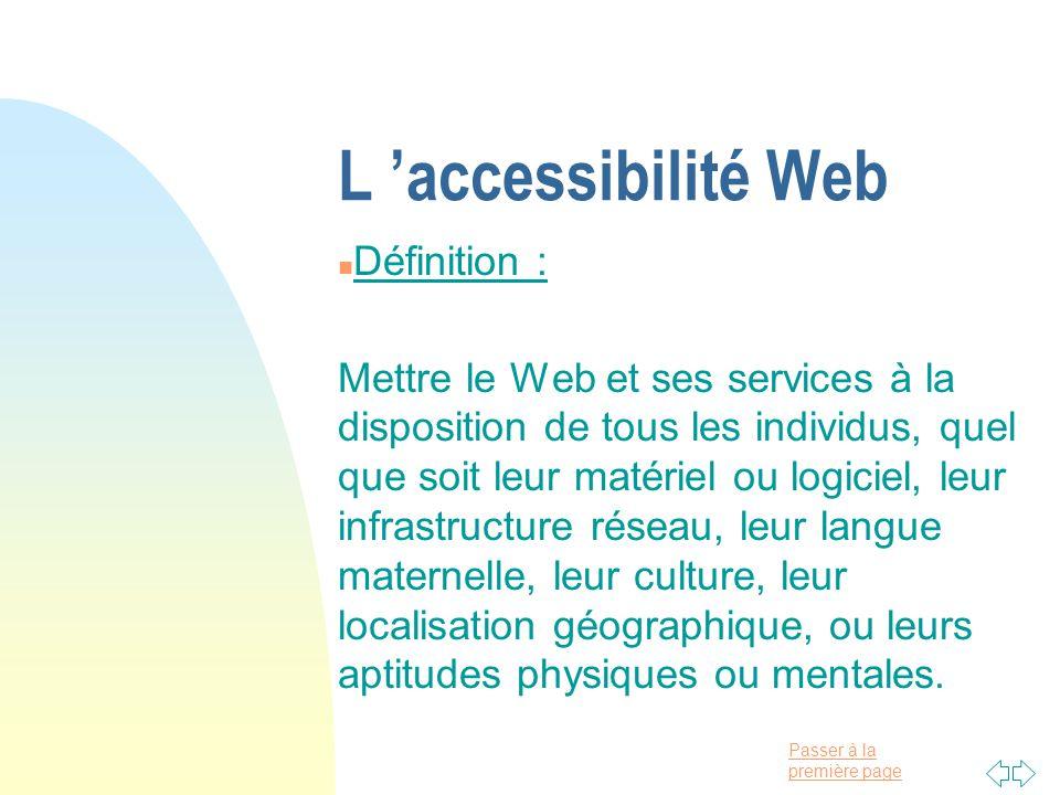 L 'accessibilité Web Définition :