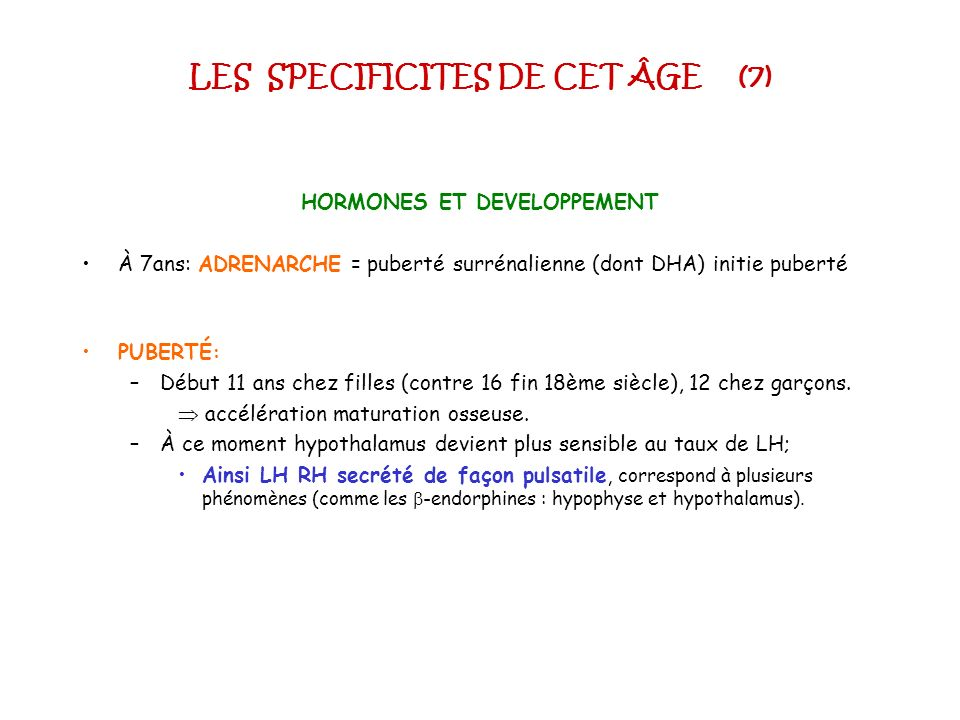 LES SPECIFICITES DE CET ÂGE (7)