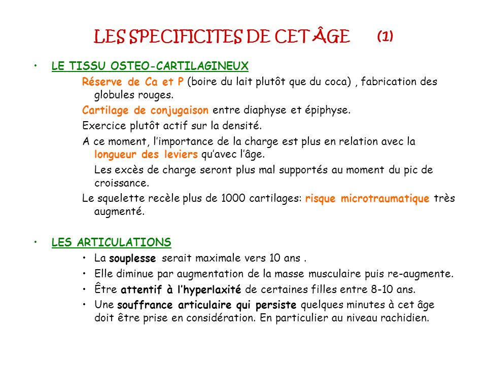 LES SPECIFICITES DE CET ÂGE (1)