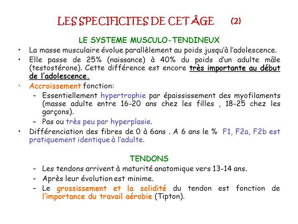 LES SPECIFICITES DE CET ÂGE (2)