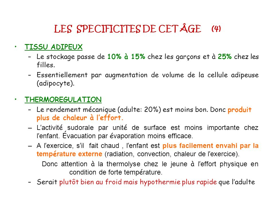LES SPECIFICITES DE CET ÂGE (4)