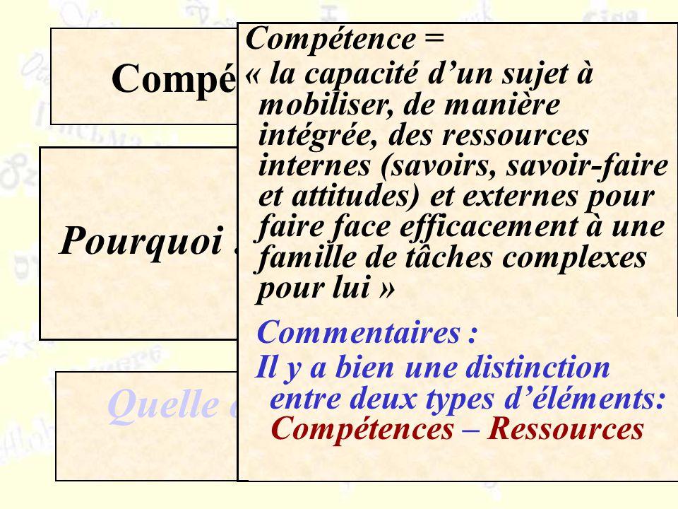 Compétences / ressources