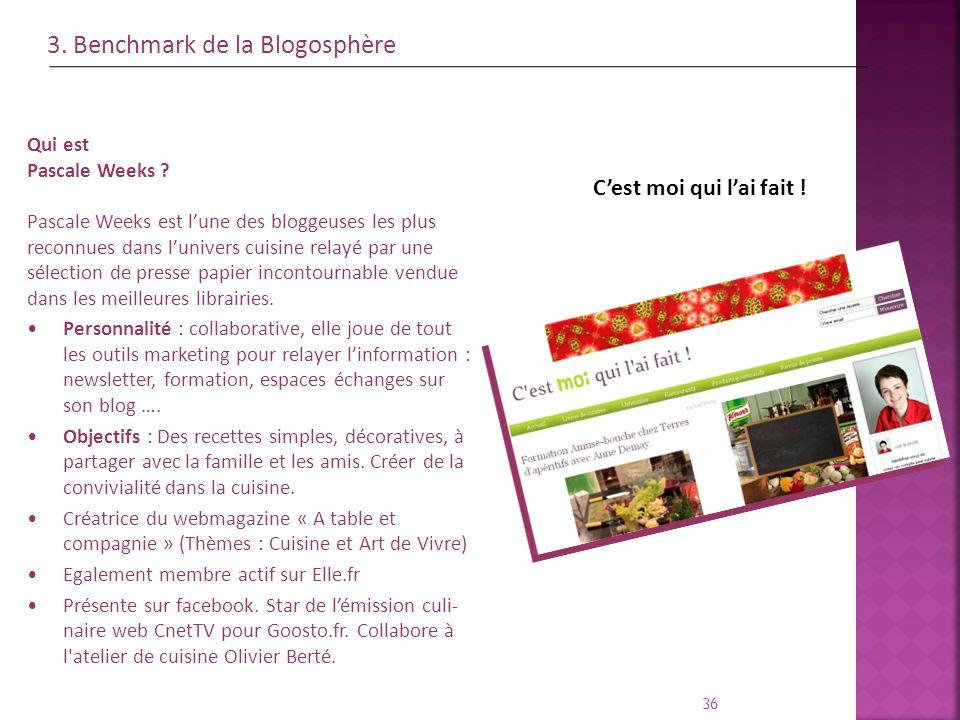 3. Benchmark de la Blogosphère