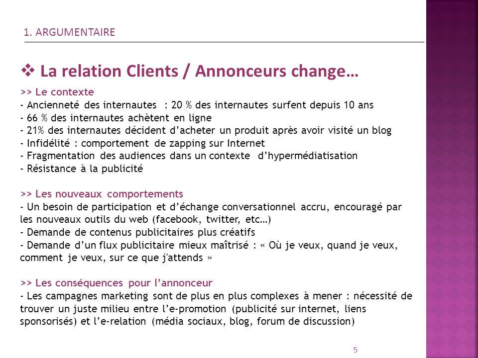 La relation Clients / Annonceurs change…