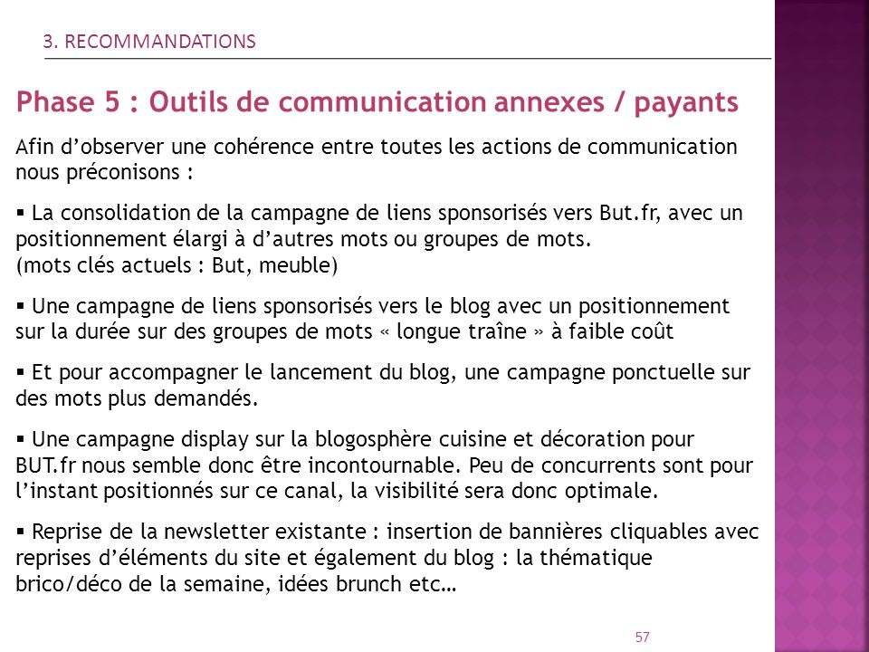 Phase 5 : Outils de communication annexes / payants