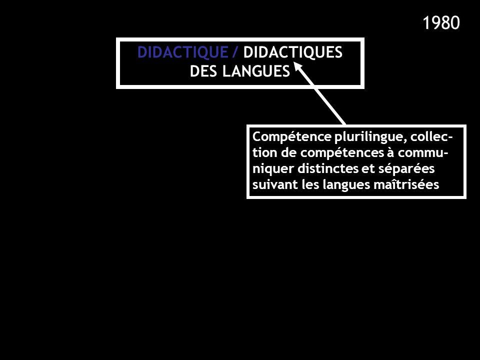 1980 DIDACTIQUE / DIDACTIQUES DES LANGUES