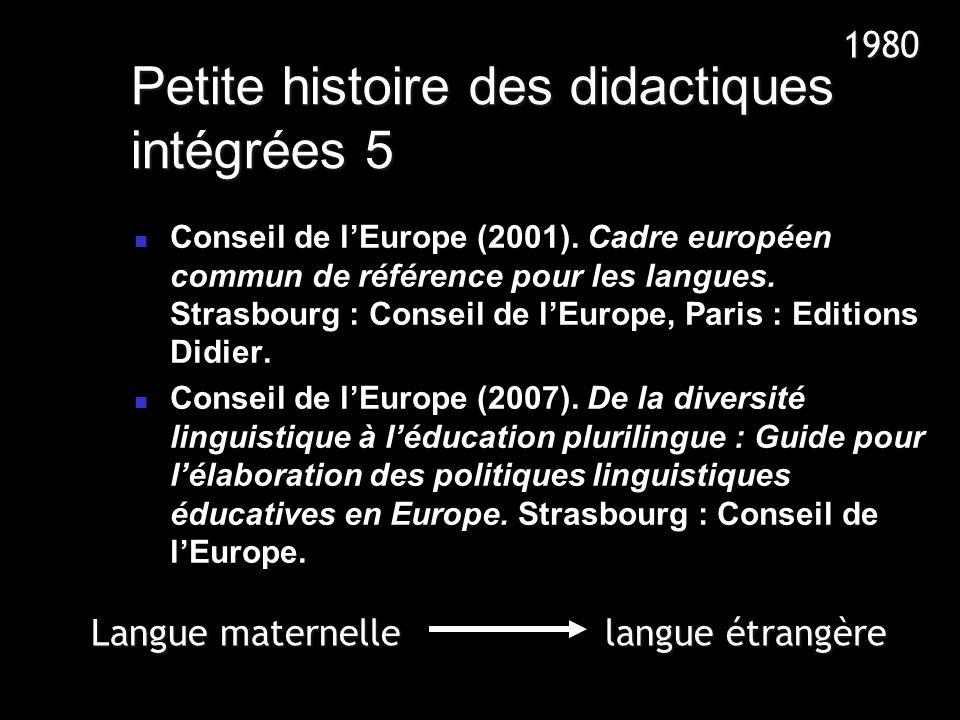 Petite histoire des didactiques intégrées 5