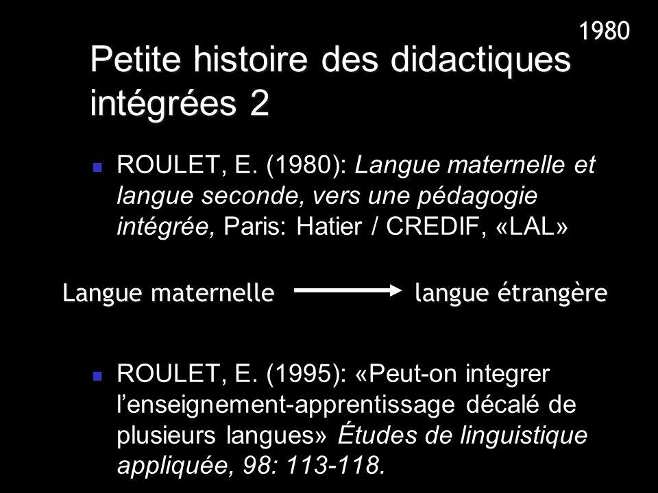 Petite histoire des didactiques intégrées 2